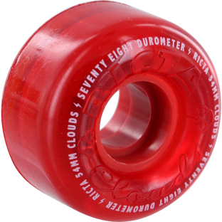 RICTA CRYSTAL CLOUDS 54mm 78a RED (Set of 4)