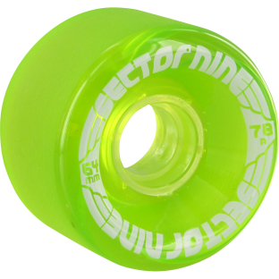 SEC9 9 BALL 64mm 78a CLEAR LIME (Set of 4)
