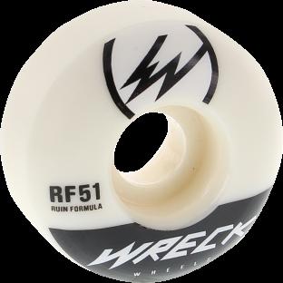WRECK W1 51mm 101a WHT/BLK (Set of 4)