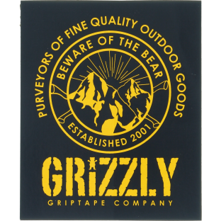GRIZZLY FROST PEAK DECAL 1pc