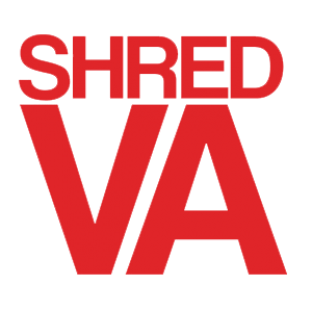 "SHRED STICKERS - SHRED VA RED 5""x4"" single"