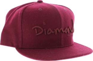 "DIAMOND OG SCRIPT HAT 7-1/2"" BURGUNDY"