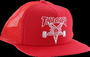 THRASHER SK8 GOAT MESH HAT ADJ-RED/WHT