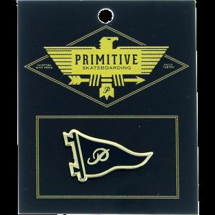 PRIMITIVE PENNANT LAPEL PIN BLK/GOLD