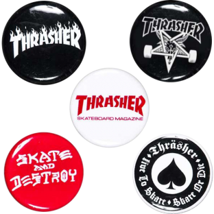 THRASHER 5 BUTTON/PIN PACK