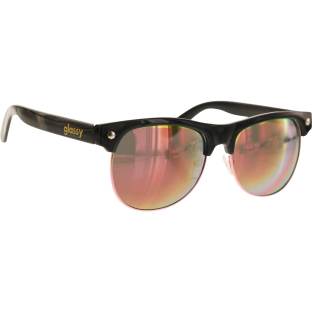 GLASSY SHREDDER BLK/PINK MIRROR SUNGLASSES