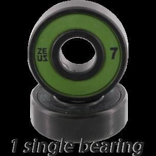ZEUS ABEC-7 SINGLE (1pc) BEARING BLK/GRN