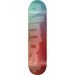 ALM SIDE PIPE BLURRY DECK-8.25 TEAL/CARDINAL ppp