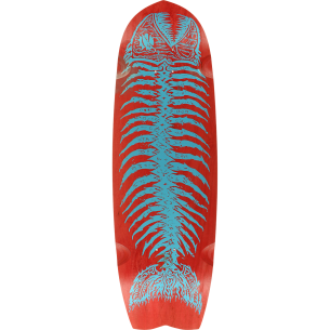 ALVA DEAD PIRANHA DECK-10x34 RED