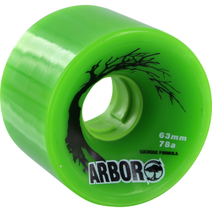 ARBOR BIOTHANE 63mm 78a GREEN (Set of 4)