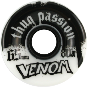 VENOM THUG PASSION 65mm 80a WHT/BLK (Set of 4)