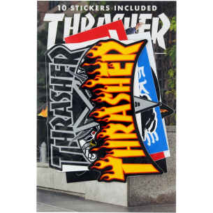 THRASHER 10/PACK ASSORTED DECALS