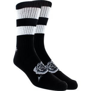 KURB MENS CREW DEATH ROSE BLK/WHT