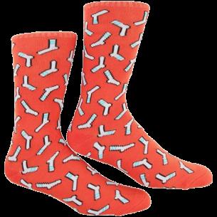 SKATE MENTAL SOCK CREW SOCKS RUST RED single pair
