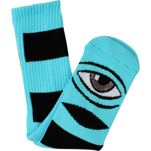 TM SECT EYE BIG STRIPE CREW SOCKS-MINT 1pr