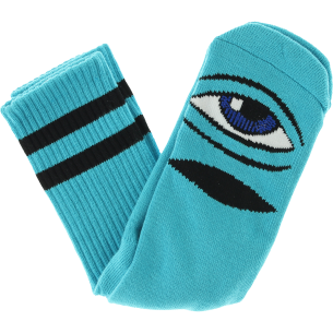 TM SECT EYE III CREW SOCKS-AQUA 1 pair