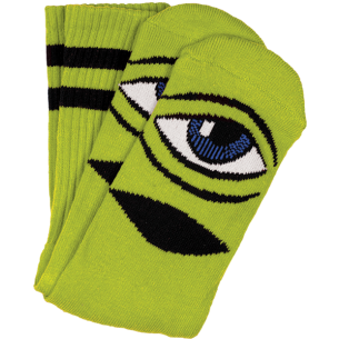 TM SECT EYE III CREW SOCKS-GREEN 1 pair