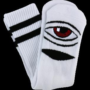 TM SECT EYE III CREW SOCKS-WHITE 1 pair