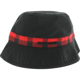 BONES BEARINGS SWISS PLAID BUCKET HAT S/M-BLK/RED