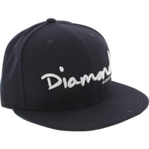 "DIAMOND OG SCRIPT HAT 7-5/8"" NAVY/WHT"