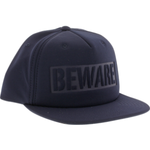 GRIZZLY BEWARE HAT ADJ-NAVY