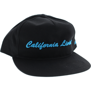 GRIZZLY CALIFORNIA LIVIN HAT ADJ-BLACK/CYAN
