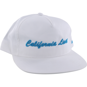 GRIZZLY CALIFORNIA LIVIN HAT ADJ-WHT/CYAN