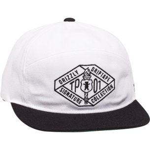 GRIZZLY TP TRADEMARK HAT ADJ-WHITE