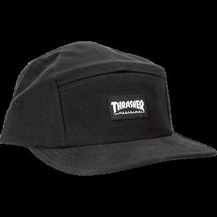 THRASHER MAG LOGO 5PANEL HAT ADJ-BLK/BLK