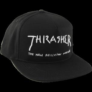THRASHER NEW RELIGION HAT ADJ-BLACK