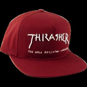 THRASHER NEW RELIGION HAT ADJ-MAROON