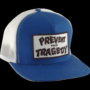 THRASHER PREVENT THIS TRAGEDY MESH HAT ADJ-BLU/WHT