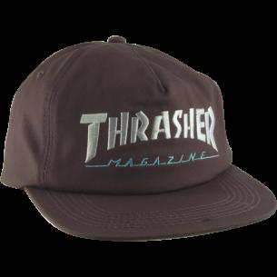 THRASHER TWO TONE MAG LOGO HAT ADJ-CHARCOAL/MINT