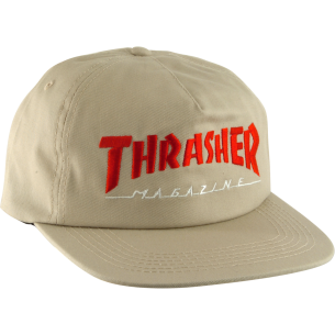 THRASHER TWO TONE MAG LOGO HAT ADJ-TAN/RED