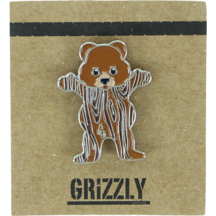 GRIZZLY WOODGRAIN BEAR PIN