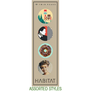 HABITAT TWIN PEAKS 4/PK BUTTONS ASSORTED