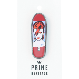 "PRIME LEE BOWIE BOARD LAPEL PIN 2"" RED"