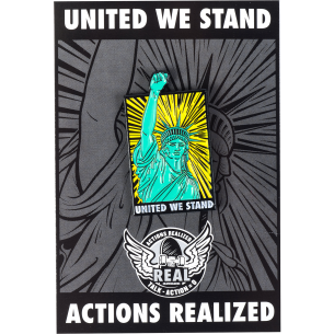 REAL UNITED WE STAND LAPEL HAND