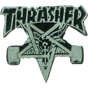 THRASHER SKATEGOAT LAPEL PIN SILVER