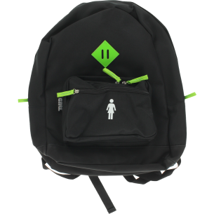 GIRL SCHOOL YARD BACKPACK BLACK/NEON