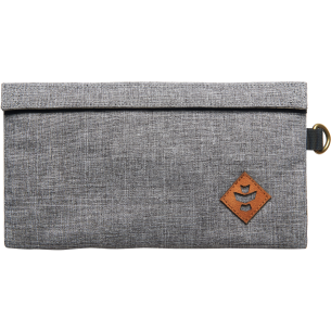 REVELRY CONFIDANT MONEY BAG .5L CROSSHATCH GREY/BK