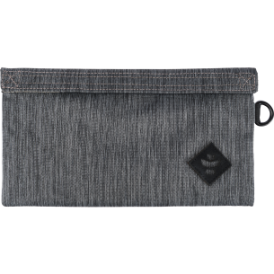 REVELRY CONFIDANT MONEY BAG .5L STRIPED DK.GREY/BK