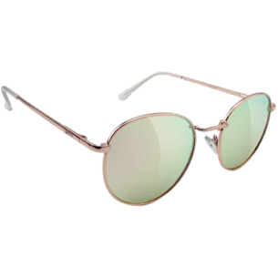 GLASSY RIDLEY ROSE GOLD/PINK MIRROR SUNGLASSES